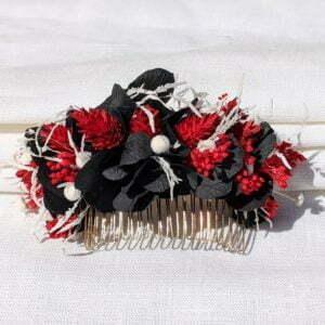 Peigne de fleurs stabilisées & fleurs séchées, Lolita