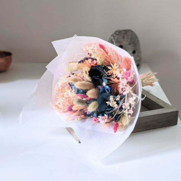 Bouquet de fleurs séchées & fleurs stabilisées pour décoration d'intérieur, Calista 2