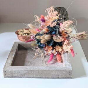 Bouquet de fleurs séchées & fleurs stabilisées pour décoration d'intérieur, Calista
