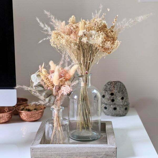 Bouquets de fleurs séchées naturelles pour décoration d'intérieur, Adélie