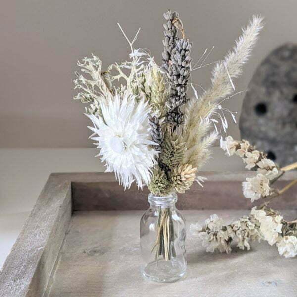 Mini bouquet de fleurs séchées pour décoration de table évènementielle, Fiesta 6
