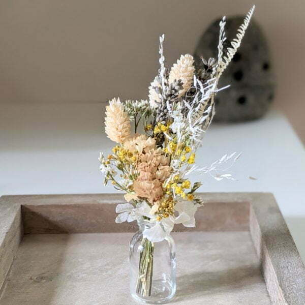 Mini bouquet de fleurs séchées pour décoration de table évènementielle, Fiesta 10