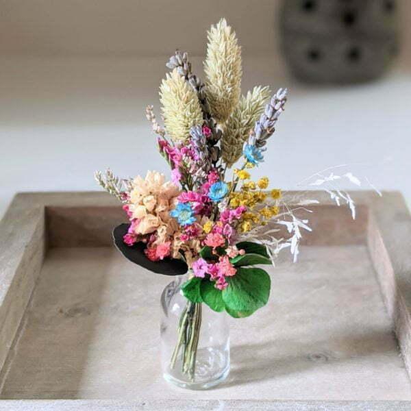 Mini bouquet de fleurs séchées pour décoration de table évènementielle, Fiesta 8