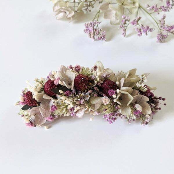 Peigne à cheveux fleuri pour coiffure de mariage en fleurs séchées & fleurs stabilisées, Safari 2